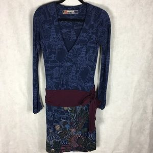 DESIGUAL blue dress Size large